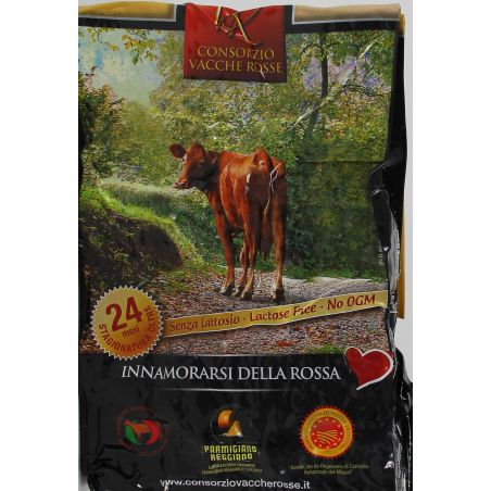 Parmigiano Della Vacche Rosse Reggiana 24 Mesi Kg 1,186 Divine Golosità Toscane