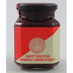 Fiasconaro Confettura Extra Di Fragole E Arance Di Sicilia Gr. 360 Divine Golosità Toscane