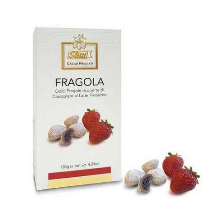 Slitti Fragola Ricoperta Di Cioccolata Al Latte Finissimo Gr. 120 Divine Golosità Toscane