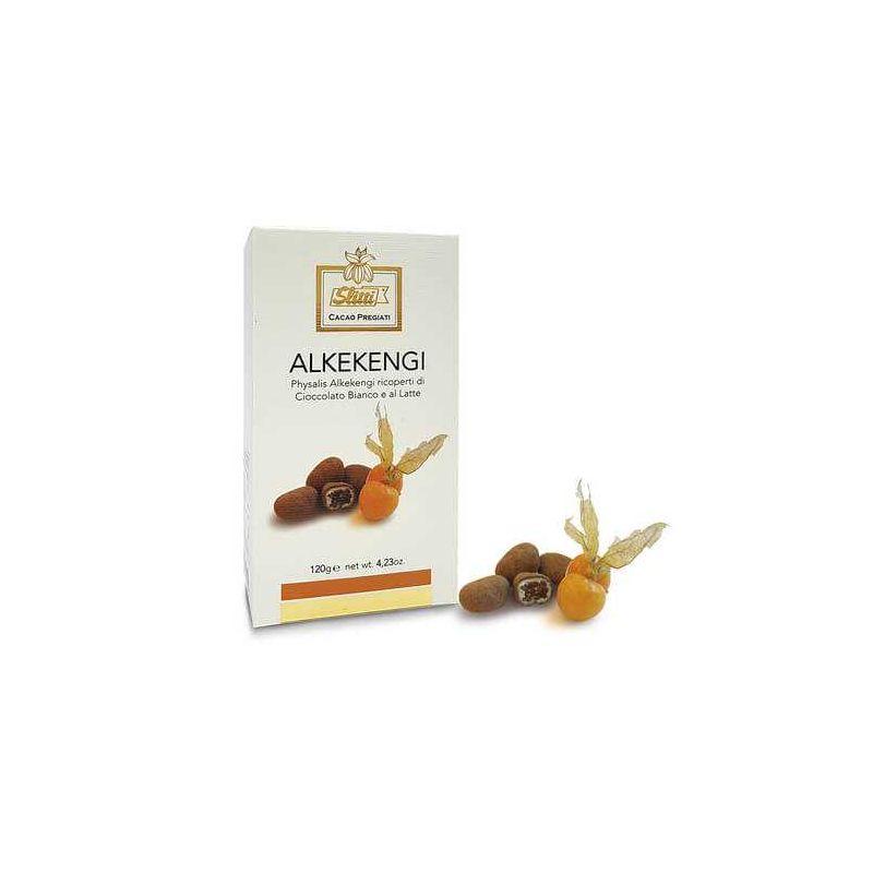 Slitti Alkekengi Ricoperti Di Cioccolato Bianco Al Latte Gr. 120 Divine Golosità Toscane