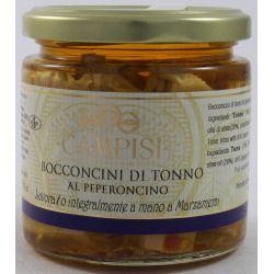 Campisi Bocconcini Di Tonno Al Peperoncino In Olio D'Oliva Gr. 220 Divine Golosità Toscane