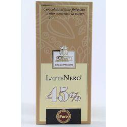 Slitti Cioccolato Al Latte Finissimo LatteNero 45% Gr. 100 Divine Golosità Toscane