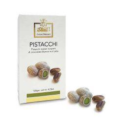 Slitti Pistacchi Tostati Ricoperti Di Cioccolato Bianco Al Latte Gr. 120 Divine Golosità Toscane