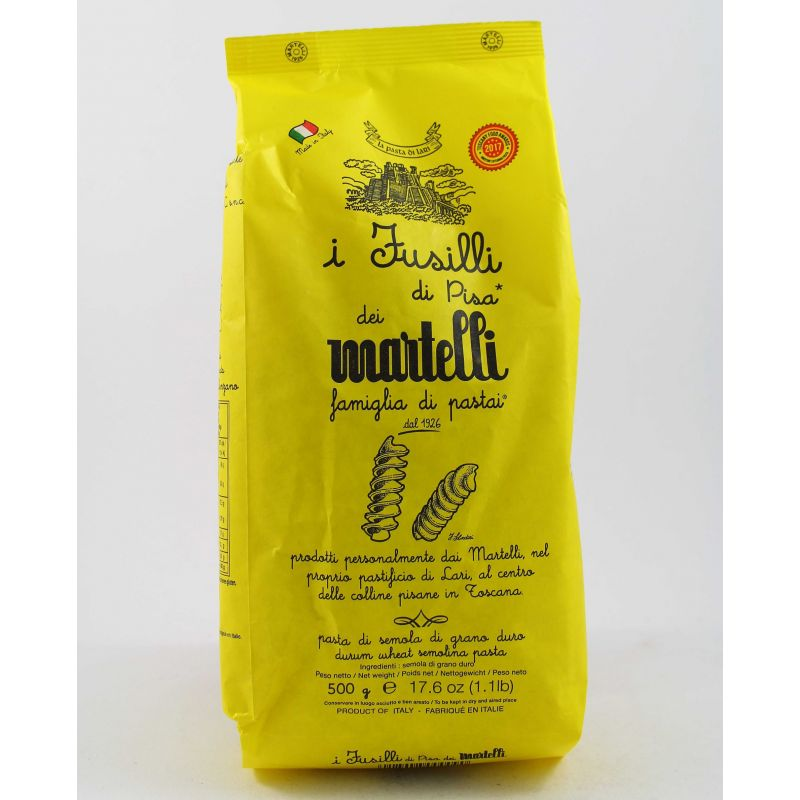 Pasta Martelli Fusilli Di Pisa Gr. 500 Divine Golosità Toscane