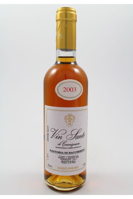 Fattoria Bacchereto - Vin Santo Di Carmignano Triple A 2003 Ml. 375 Divine Golosità Toscane
