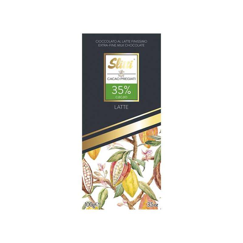 Slitti Tavoletta Cioccolato al Latte 35% Gr. 100 Divine Golosità Toscane